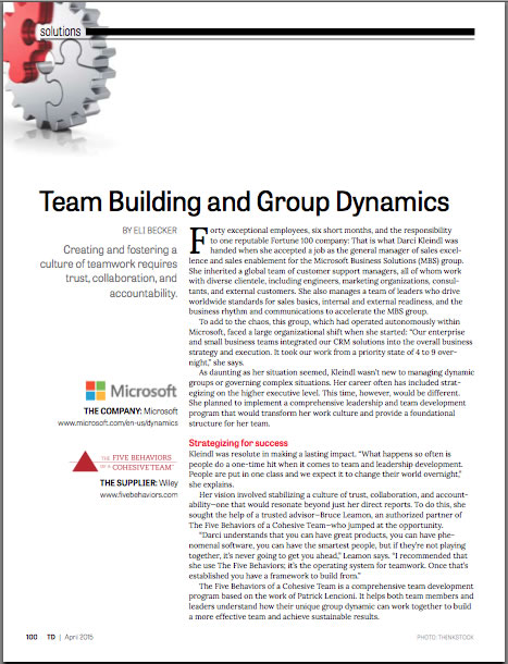 team building and group dynamics